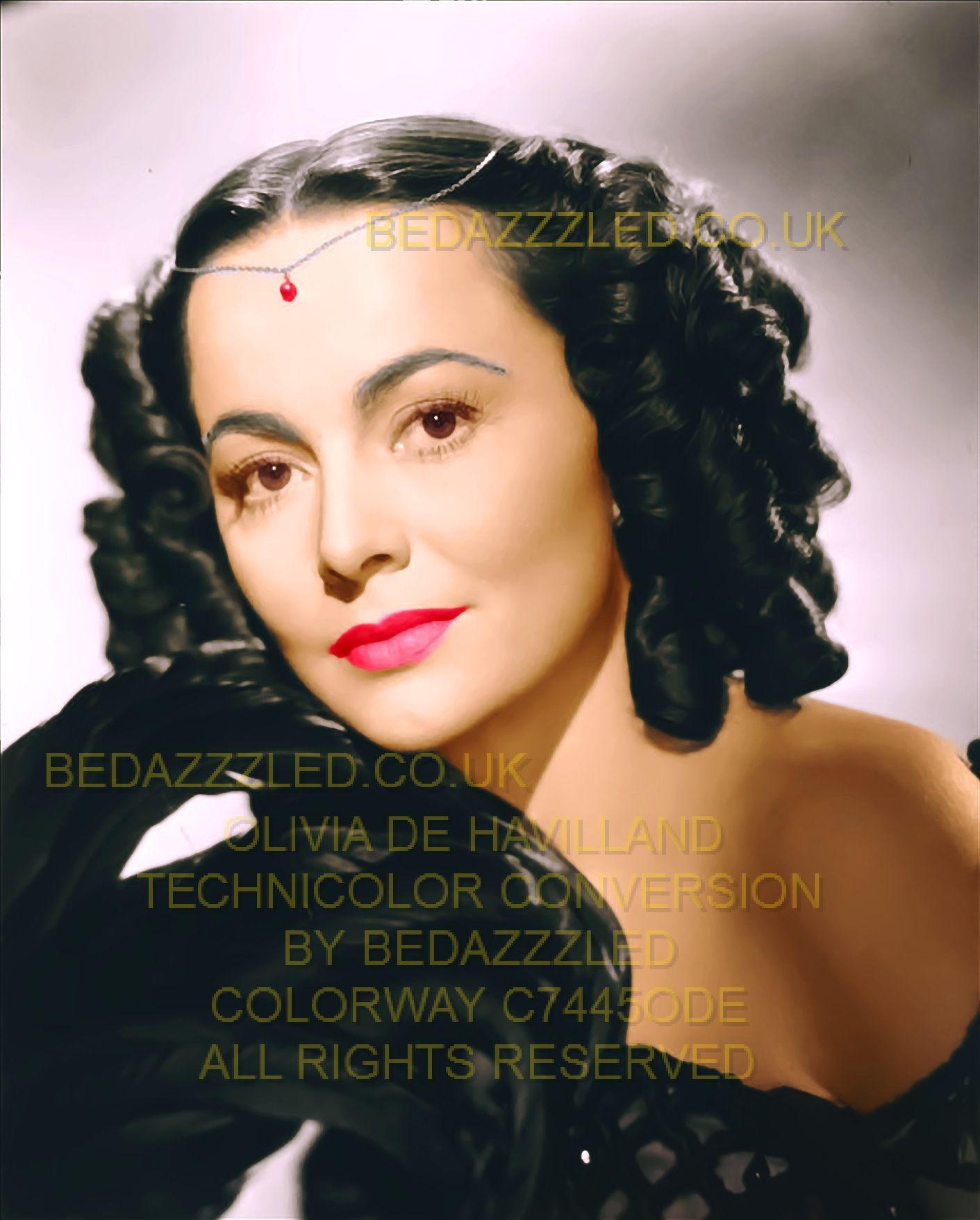 OLIVIA DE HAVILLAND TECHNICOLOR CONVERSION BY BEDAZZZLED