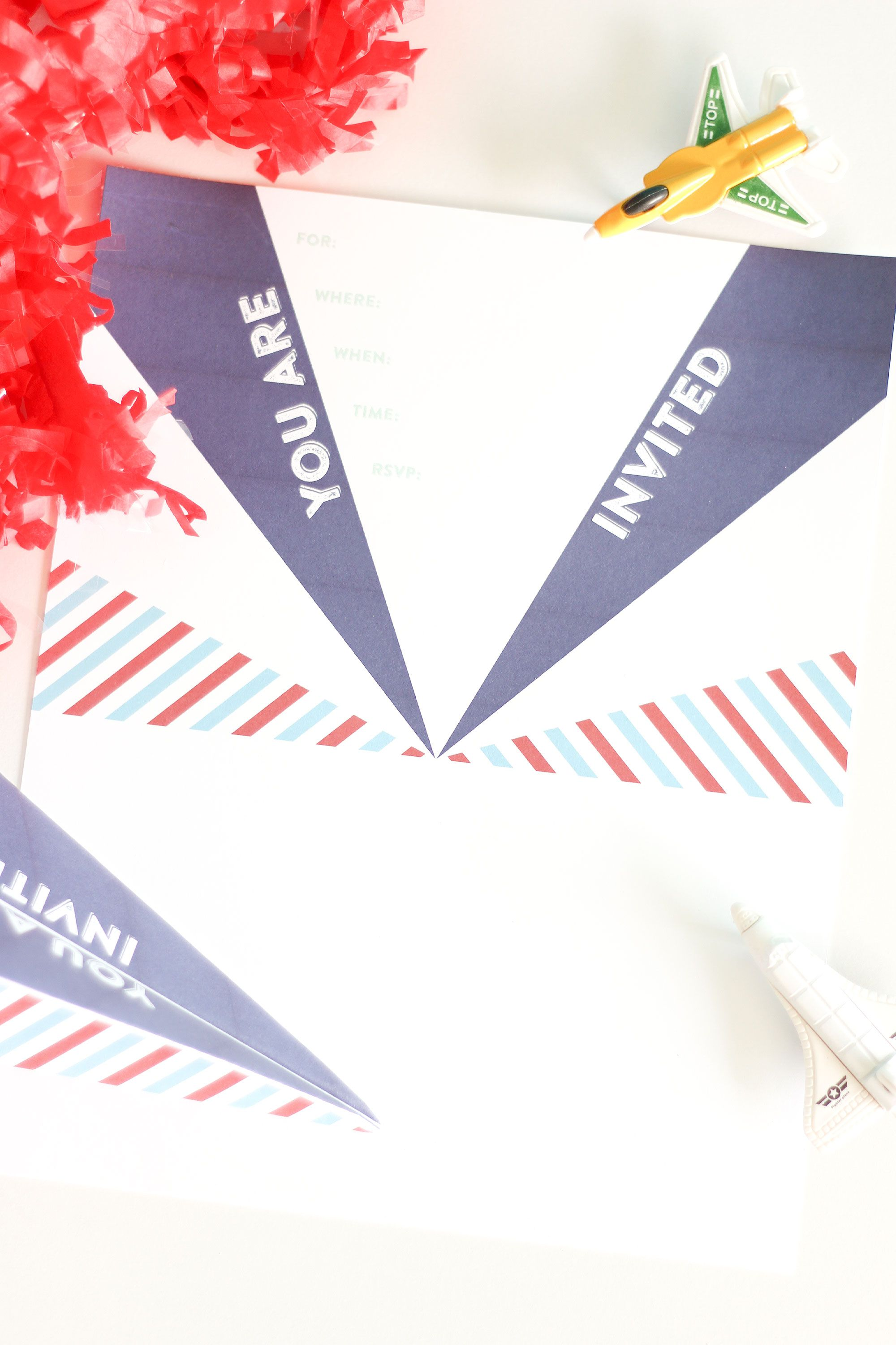 Paper Airplane Invitation | Wedding Tips and Inspiration