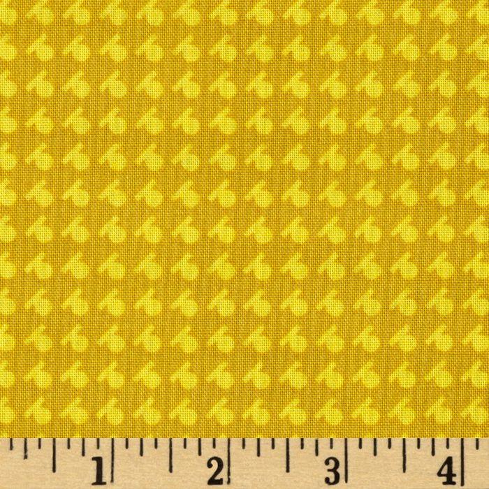 Denyse Schmidt Hadley Dash Dot Sunflower Fabric