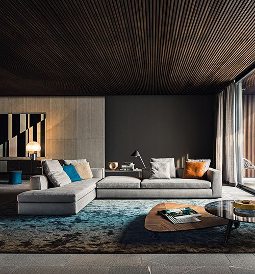Minotti Ambiance Salon Deco Interieur Salon Deco Maison