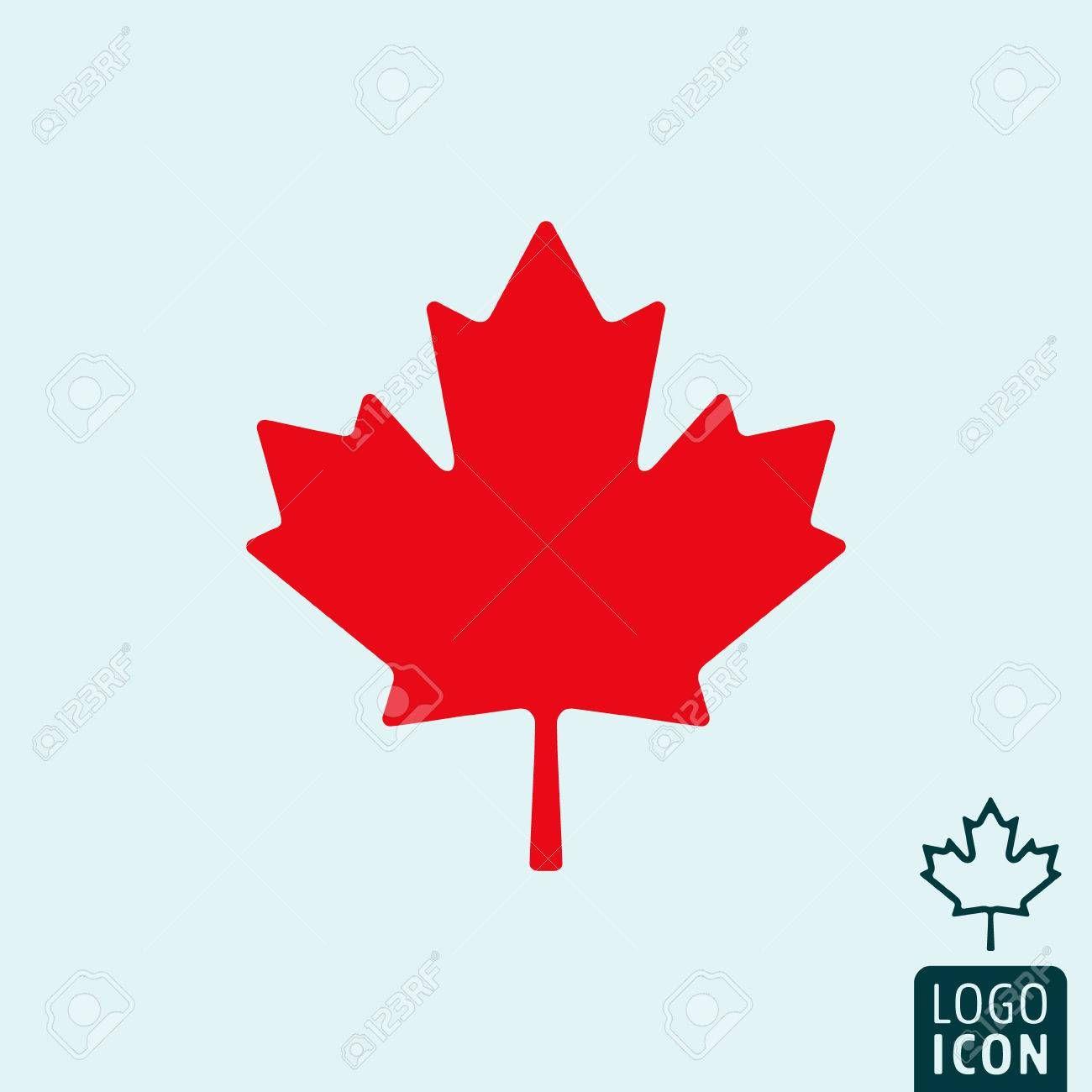 Canada Icon Canada Logo Canada Symbol Maple Leaf Icon Isolated Minimal Design Vector Illustration Affili Canada Logo Logo Design Typography Logo Design