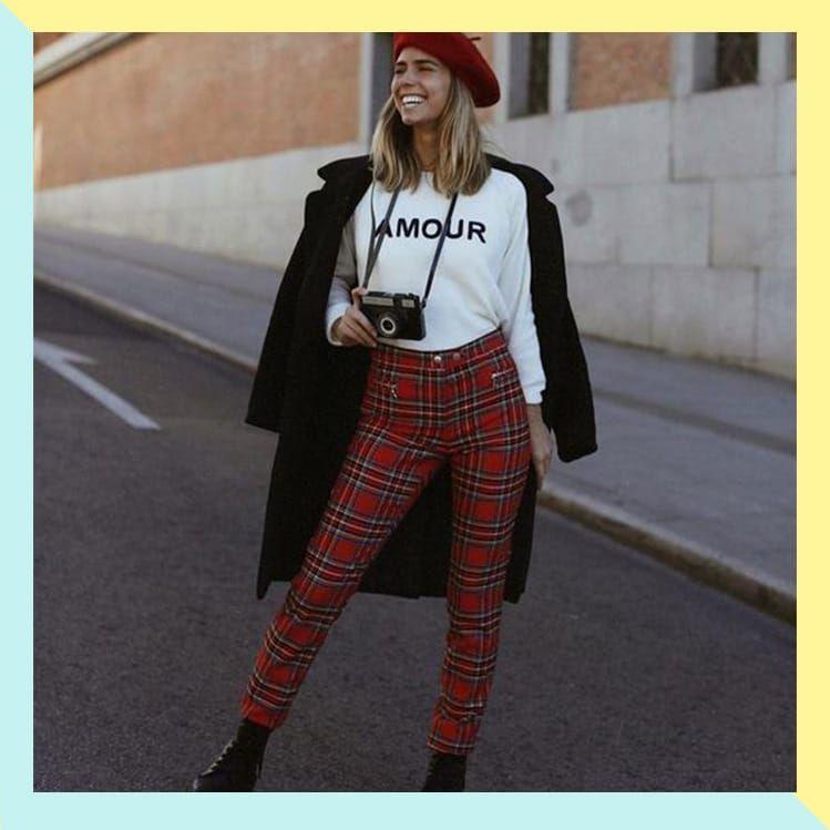 10 Formas De Combinar Tus Pantalones De Cuadros Pantalon Cuadros Mujer Pantalones De Cuadros Ropa De Moda