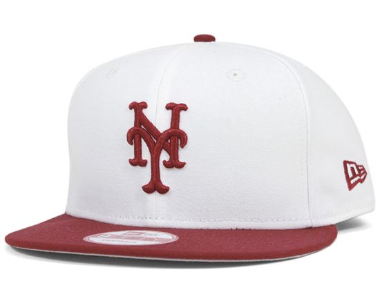 New York Mets White-Maroon 9Fifty Snapback Cap by NEW ERA x MLB ... ca0ba31af1ce