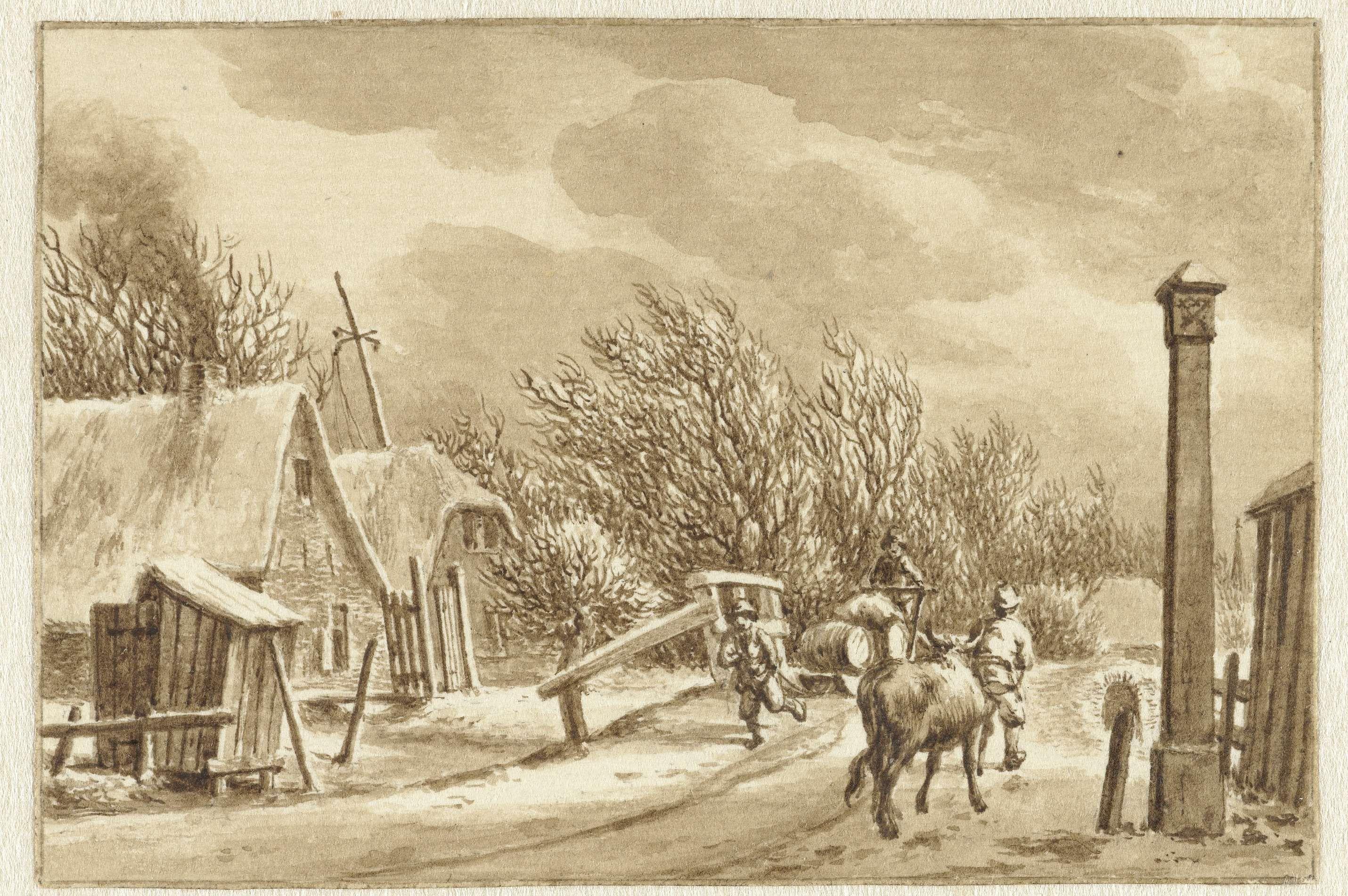 Jacob Cats (1741-1799) | Landschap met opstekende storm, Jacob Cats (1741-1799), 1776 |