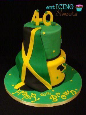 Jamaican Birthday Cake Birthday cakes Jamaican party and Cake