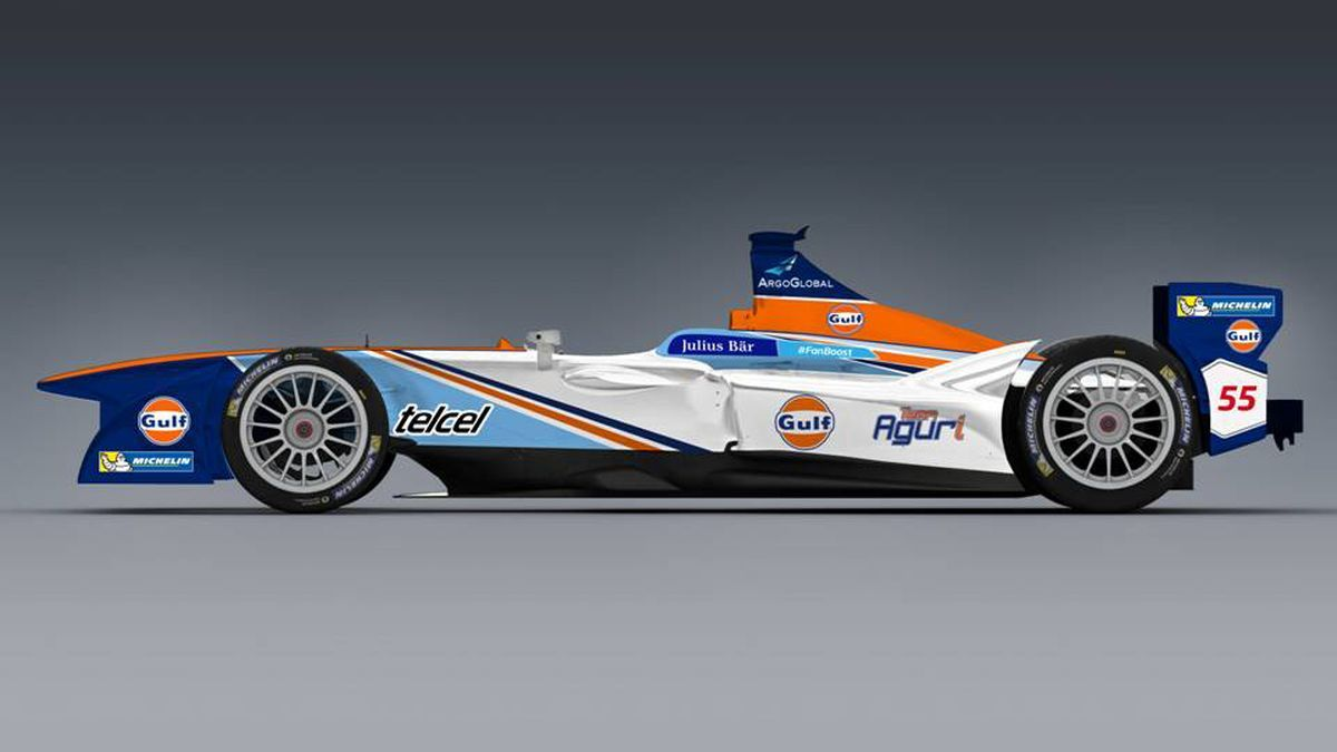 The iconic Gulf Oil livery is coming to Formula E starting this weekend