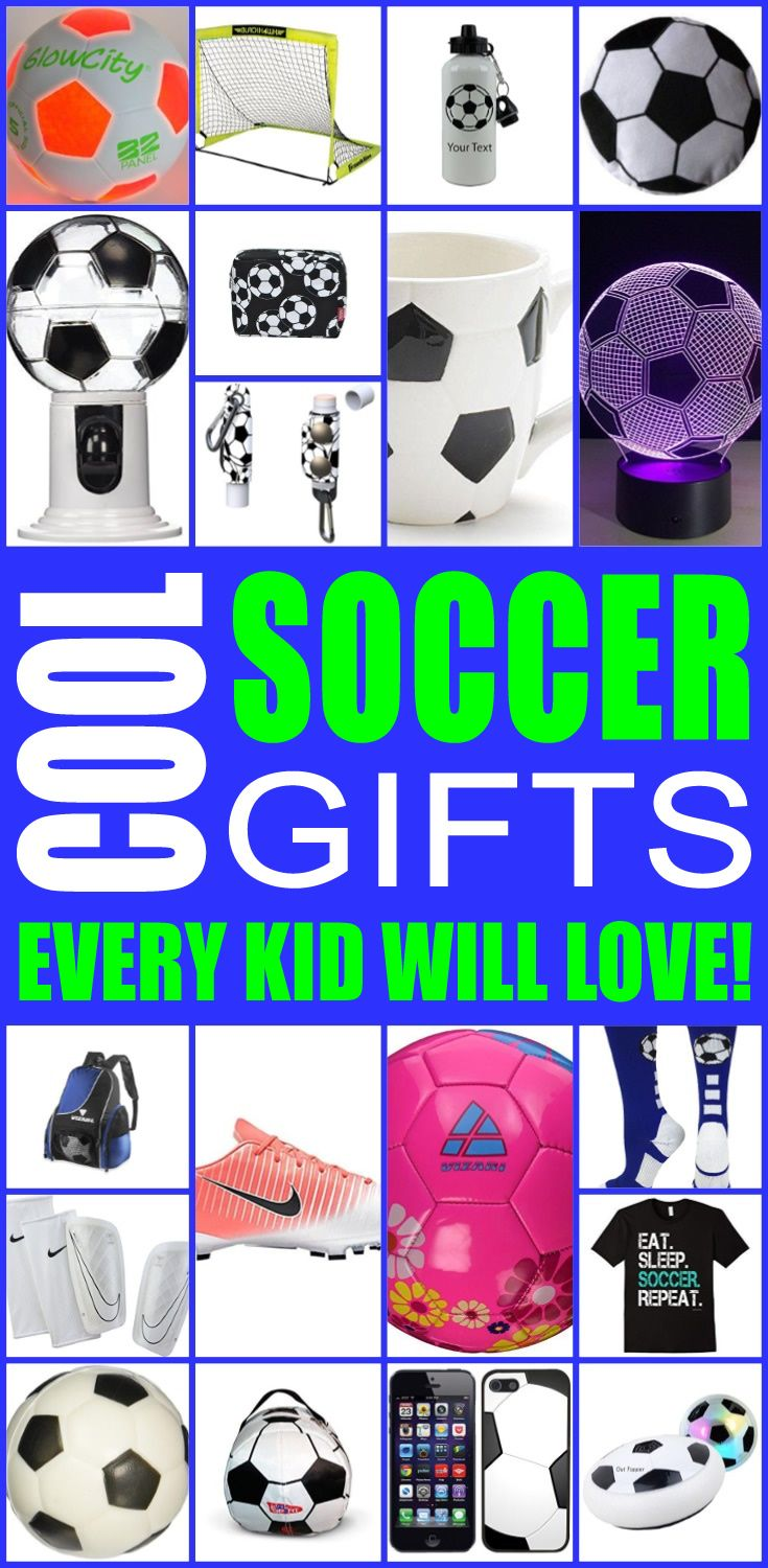 Cool Soccer Gifts Every Kid Will Love With Images Soccer Gifts