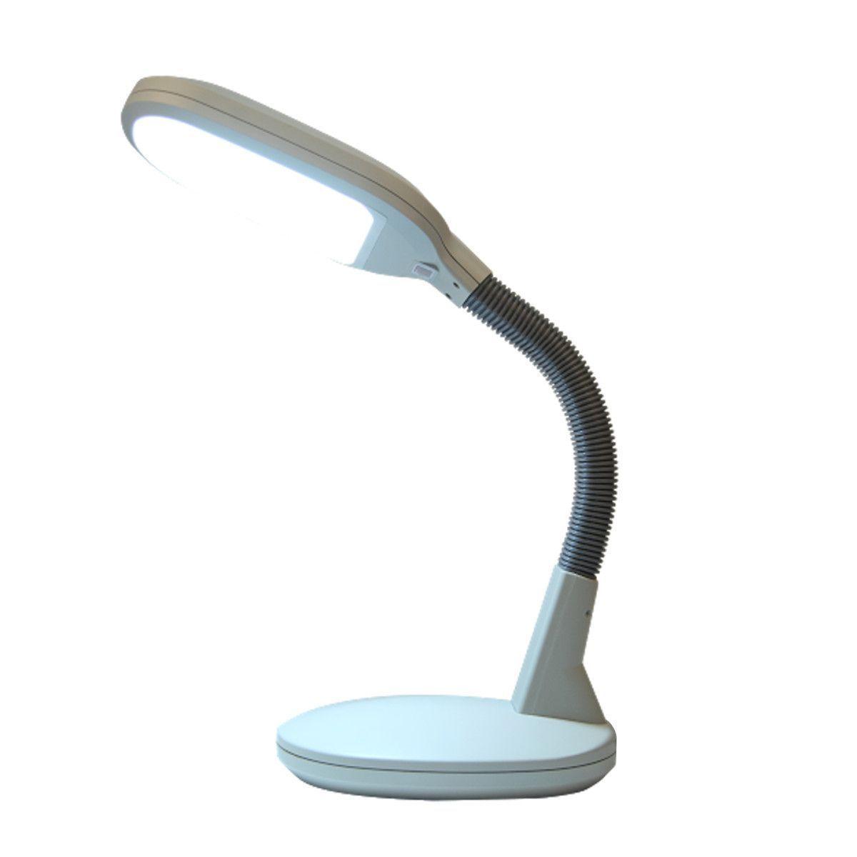 0 000272u003eLED Bright Reader Natural Daylight Full Spectrum Desk Lamp Grey