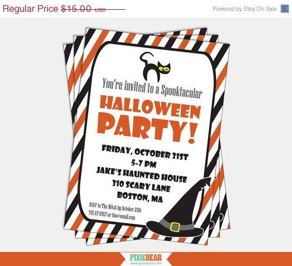 Halloween SALE! Halloween Party Invitation Downloads - 20 OFF - invitation downloads