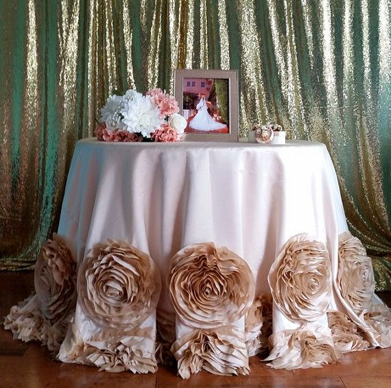 Rosette Tablecloth Rose Champagne By Orchidlinens