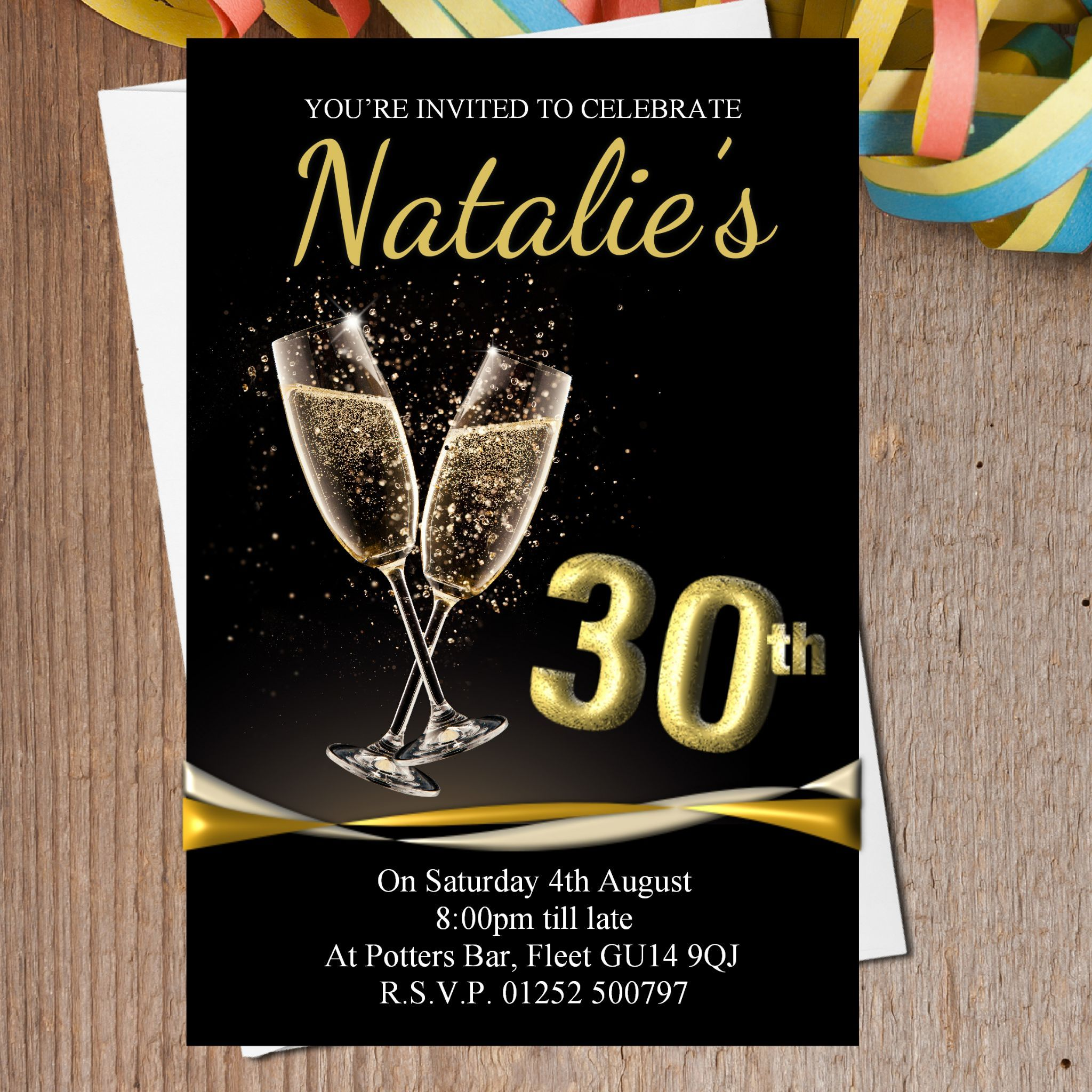 Cool The Black And Gold Birthday Invitations Printable