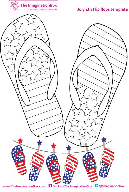 c7d47002fb395 Get in the July 4th spirit and make some stars and stripes flipflop bunting  with this coloring activity