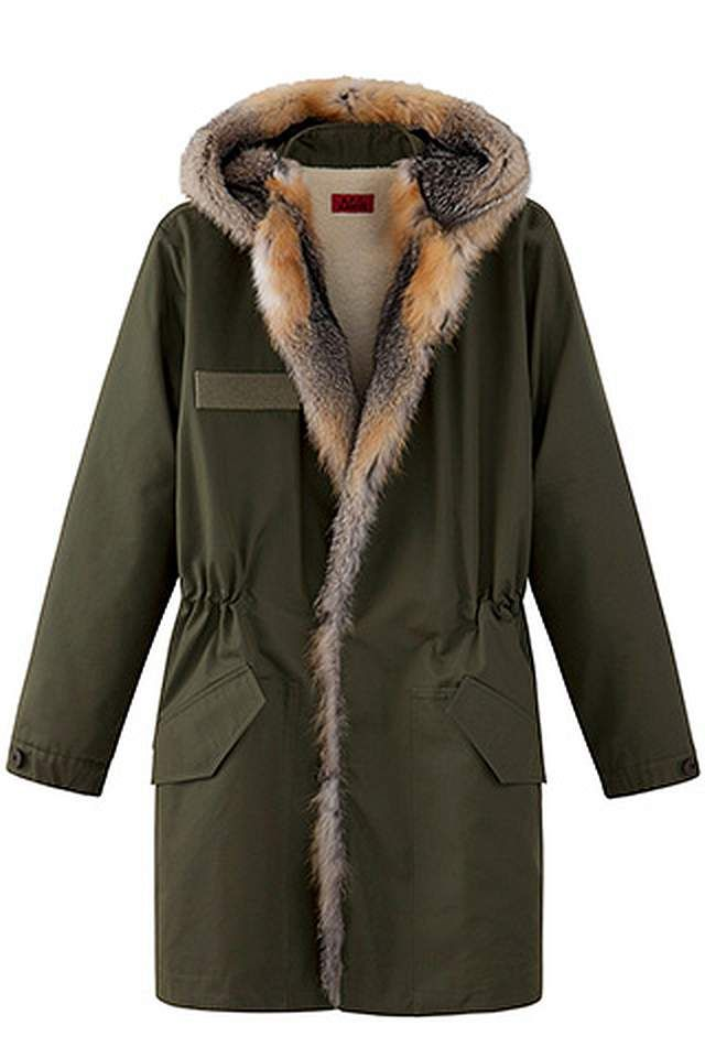 Kanye West X Apc Parka With Fur Green Pelz Kanye West Mantel