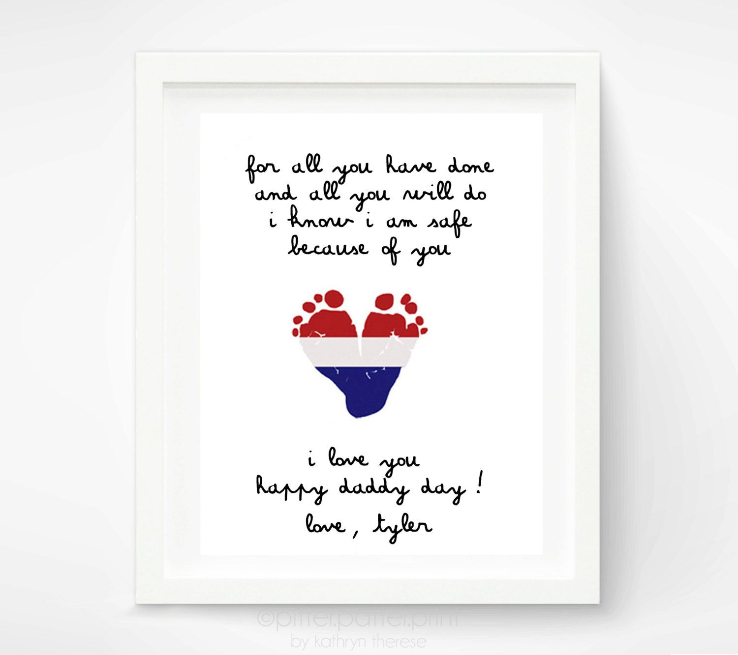 Beautiful Cute First Fathers Day Gifts Part - 10: Fatheru0027s Day Gift For New Dad Baby Footprint By PitterPatterPrint, $30.00