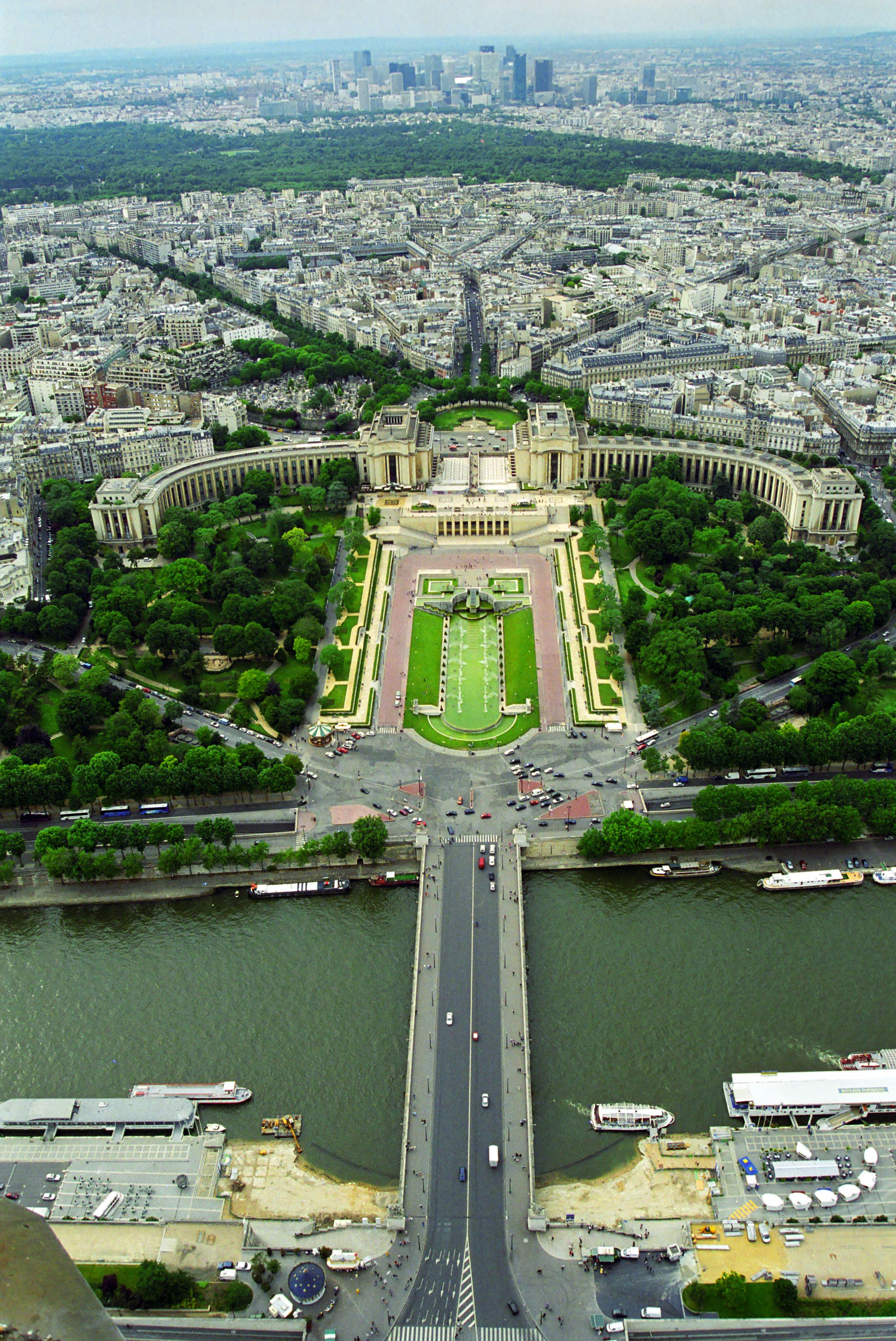 The Trocadero from the Eiffel Tower