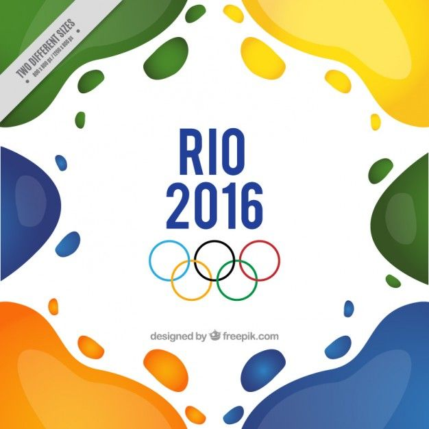 Abstract shapes rio 2016 background Free... | Free Vector #Freepik #freevector #background #abstract...