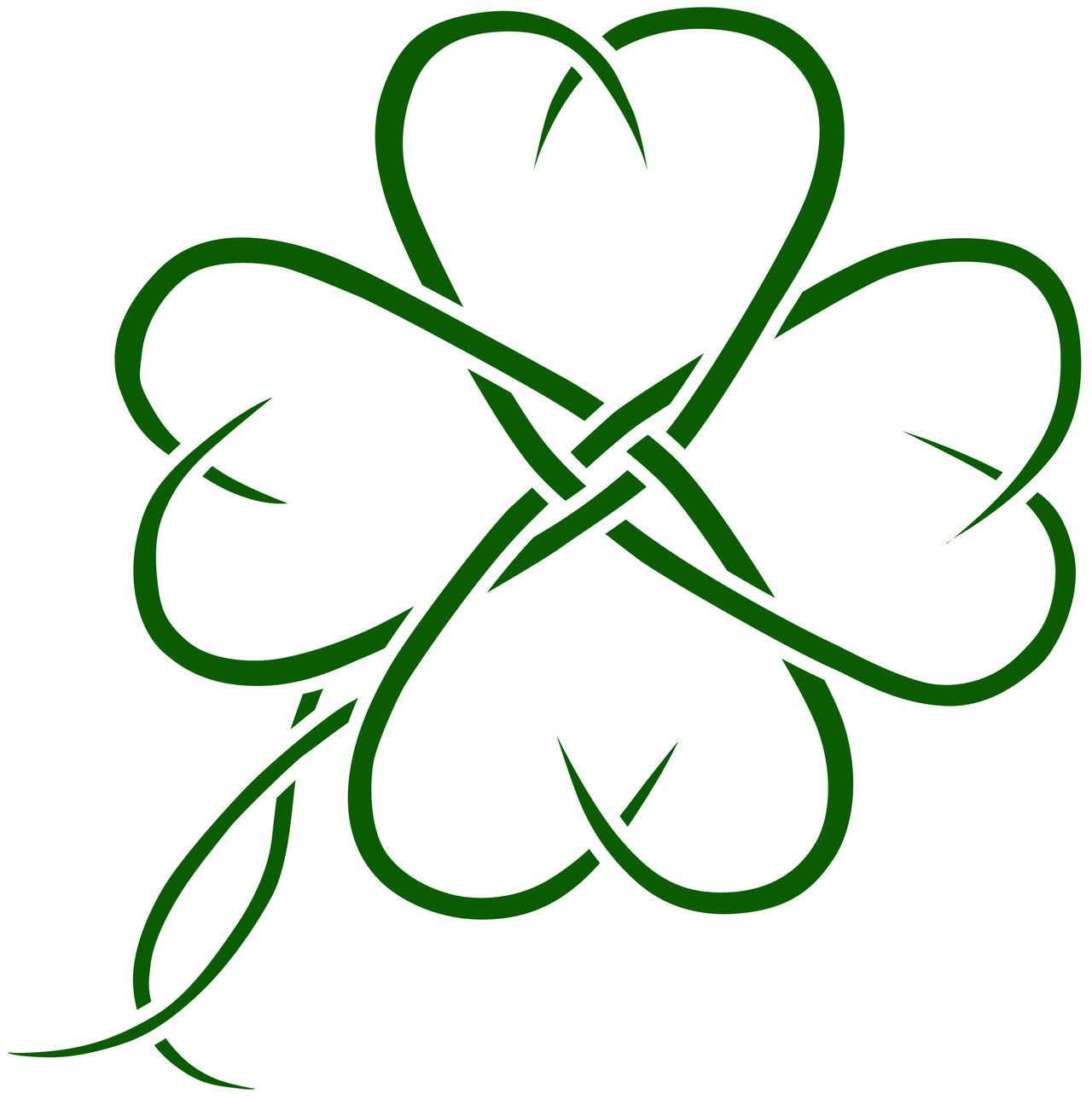 Coloring pages 4 leaf clover - Four Leaf Clover Foot Tattoo Tattoes Idea 2015 2016