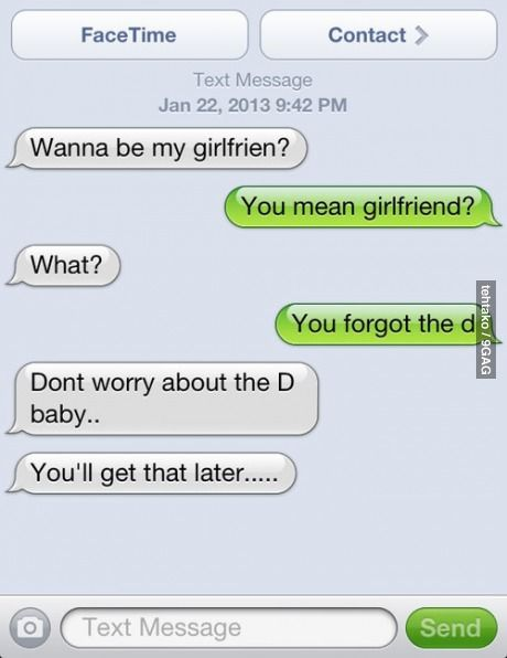 Cute Joke For Girlfriend : girlfriend, You'll, Later., Funny, Messages,, Texts,, Fails