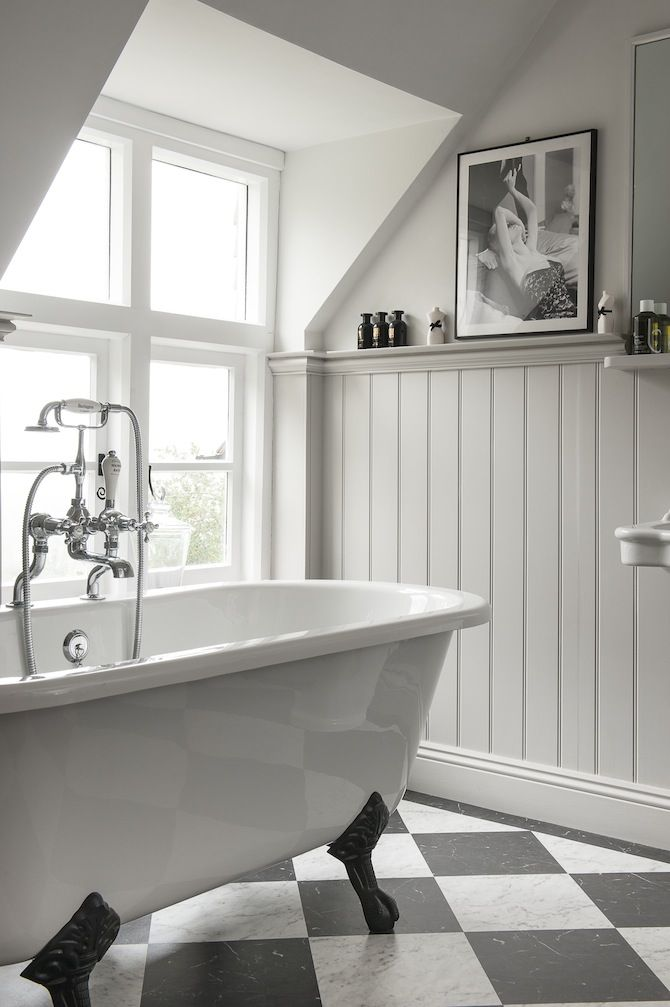 Fabulous Colours - wood panelling although our bathroom will be grey walls  MF43