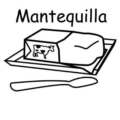 Mantequilla Para Colorear Buscar Con Google Lacteos Mantequilla Colores