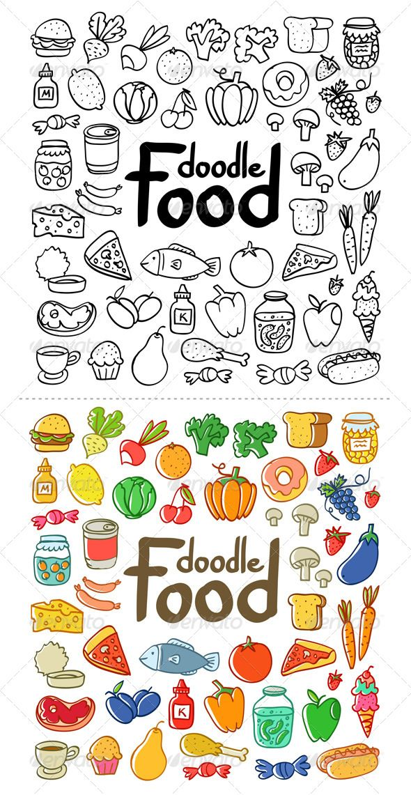 Food Doodle Food Objects Doodles In 2019 Pinterest Doodles