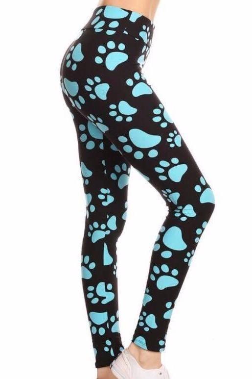 9acbb24cfe5d4 Puppy Love - Black with Blue Paws | Blues Clues | Leggings, Blue ...