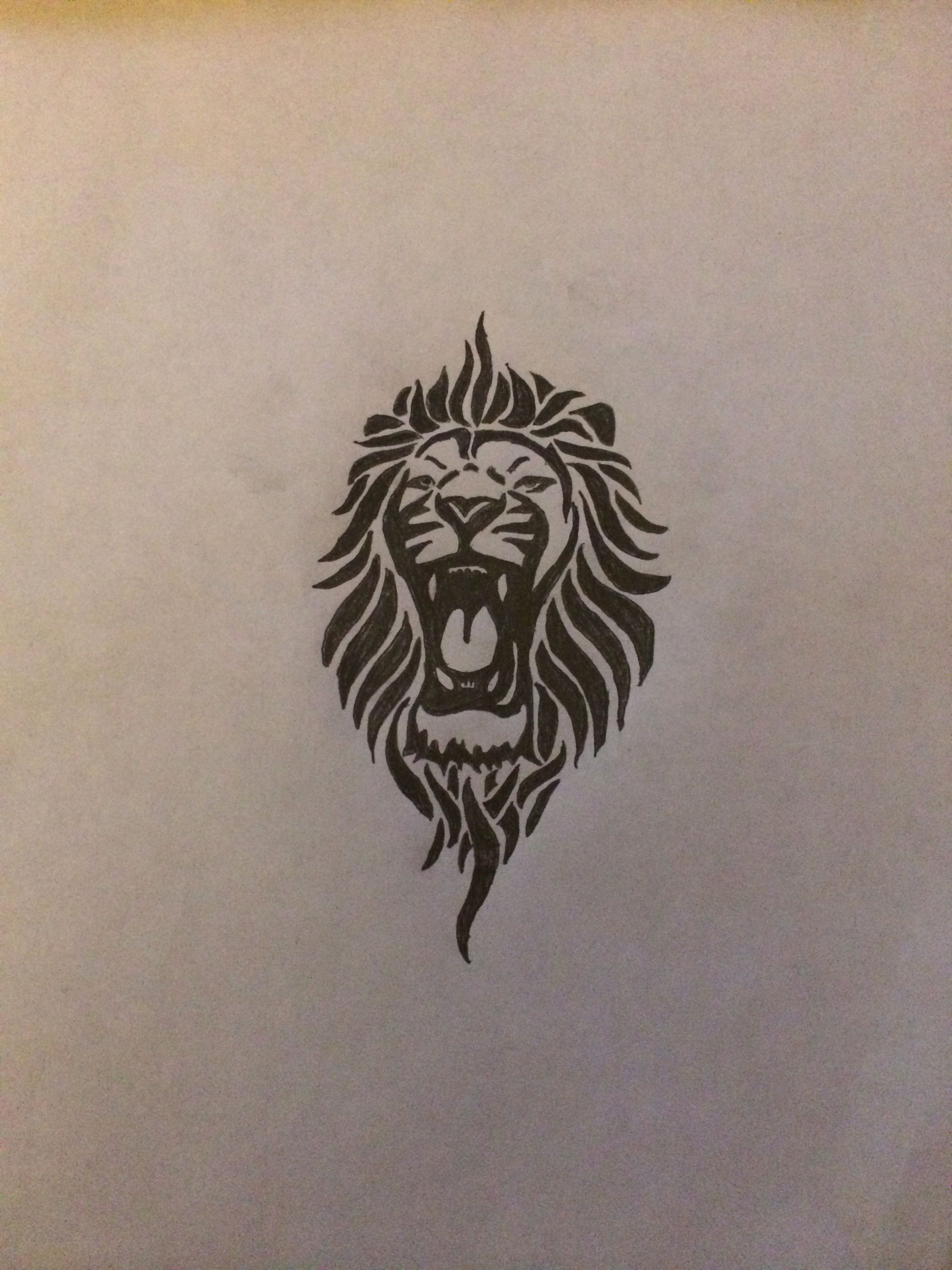 203f4518d Tribal lion tattoo for my left inner forearm | Ink | Lion tattoo ...