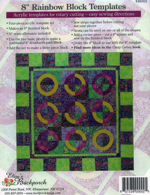 Elisau0027s Backporch Rainbow Block 8 Template by BlackBirdFabrics - rainbow template