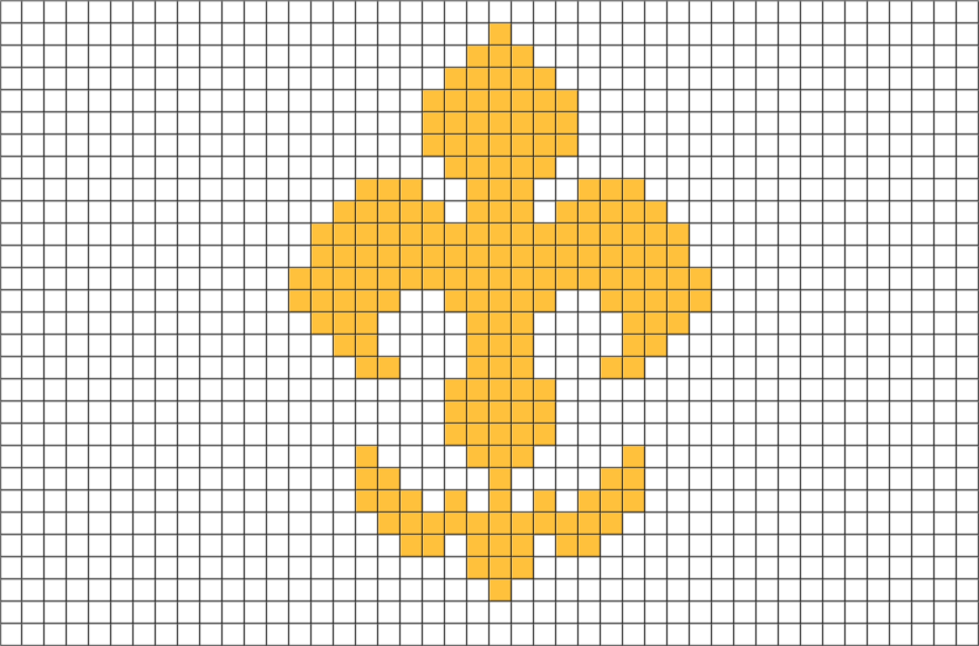 Fleur De Lis Pixel Art Pixel Art 8 Bit Art Art
