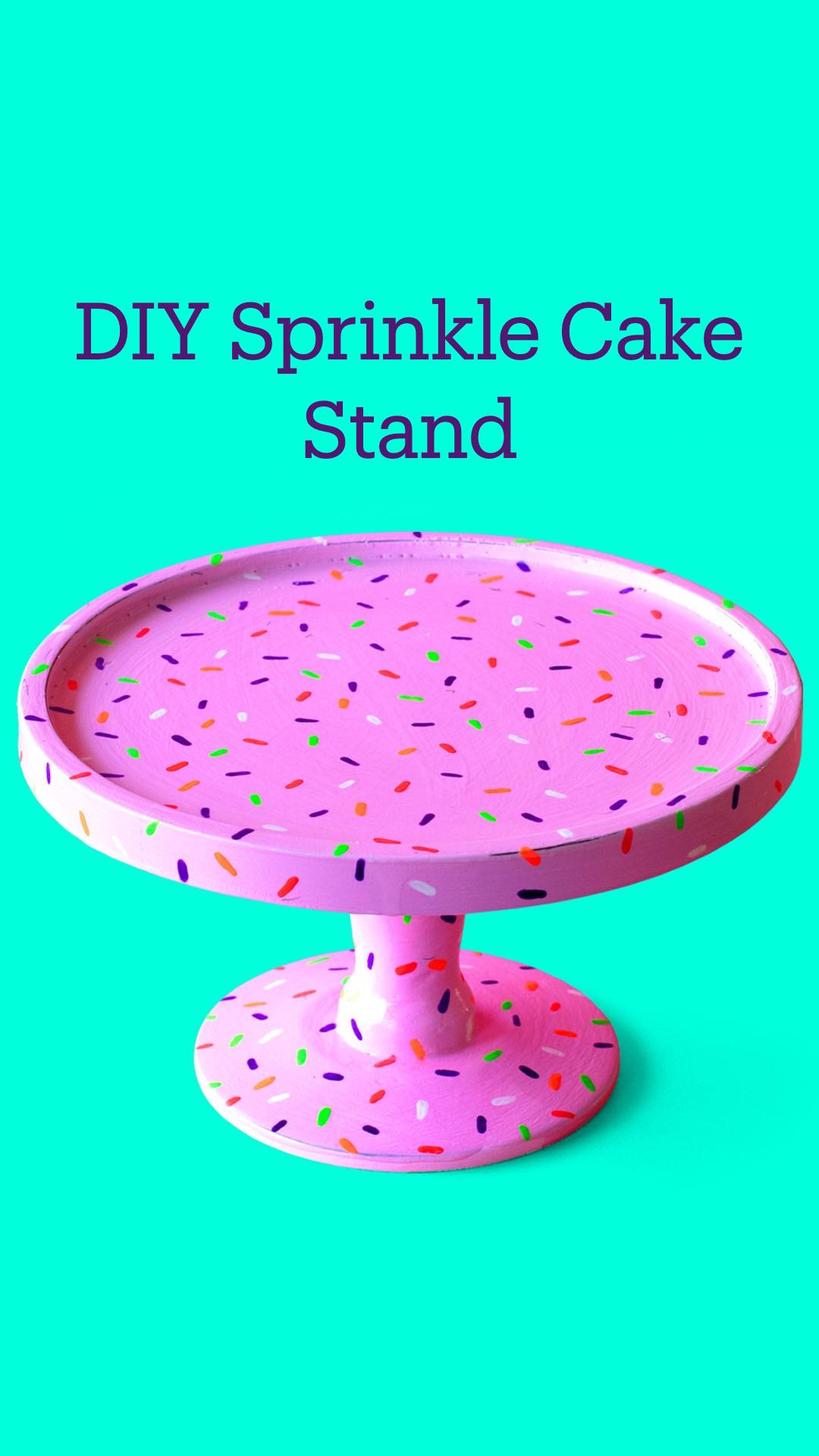 Free DIY Sprinkle Cake Stand