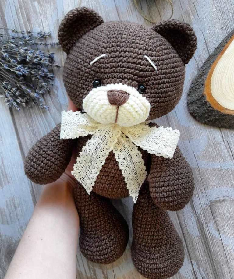 Crochet bear amigurumi #beartoy