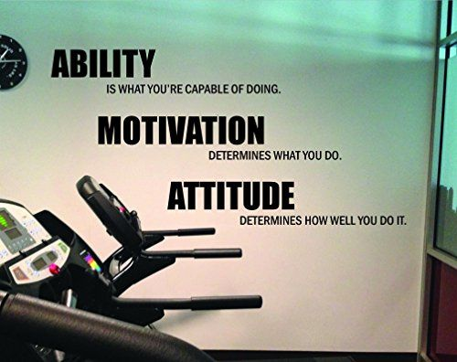 Motivational Quote Gym Wall Decal. Ability Motivation Attitude 14 & Motivational Quote Gym Wall Decal. Ability Motivation Attitude 14 ...