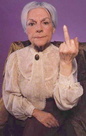 Image result for old woman shooting finger