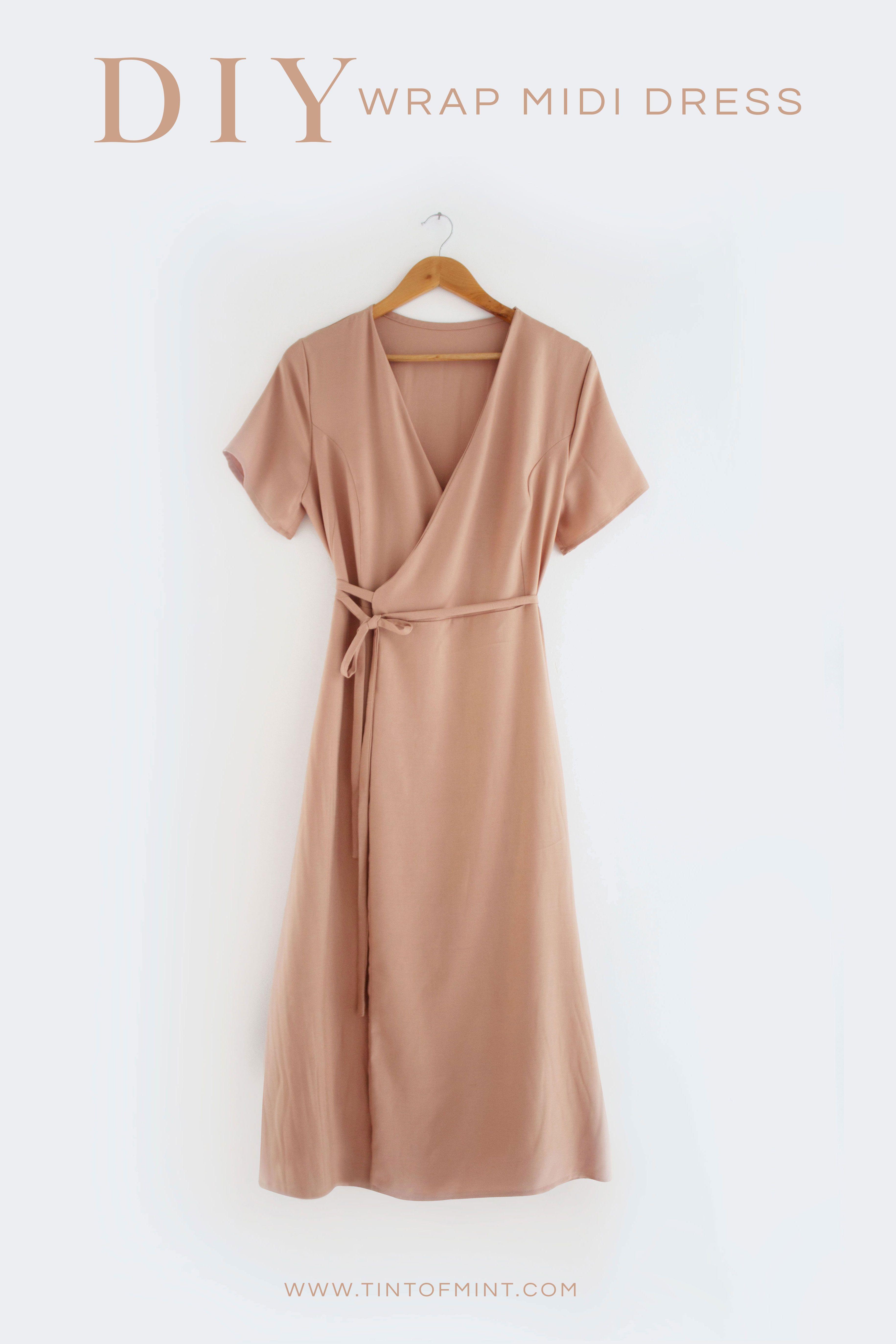 DIY Wrap Midi Dress