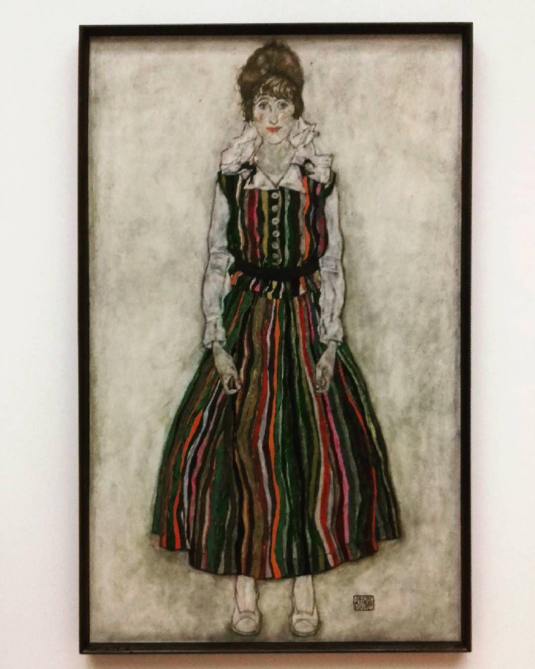 What an awesome surprise seeing my first Egon Schiele !!! #art #holland #artist #paint #dress #rotterdamart #orignal #paintings