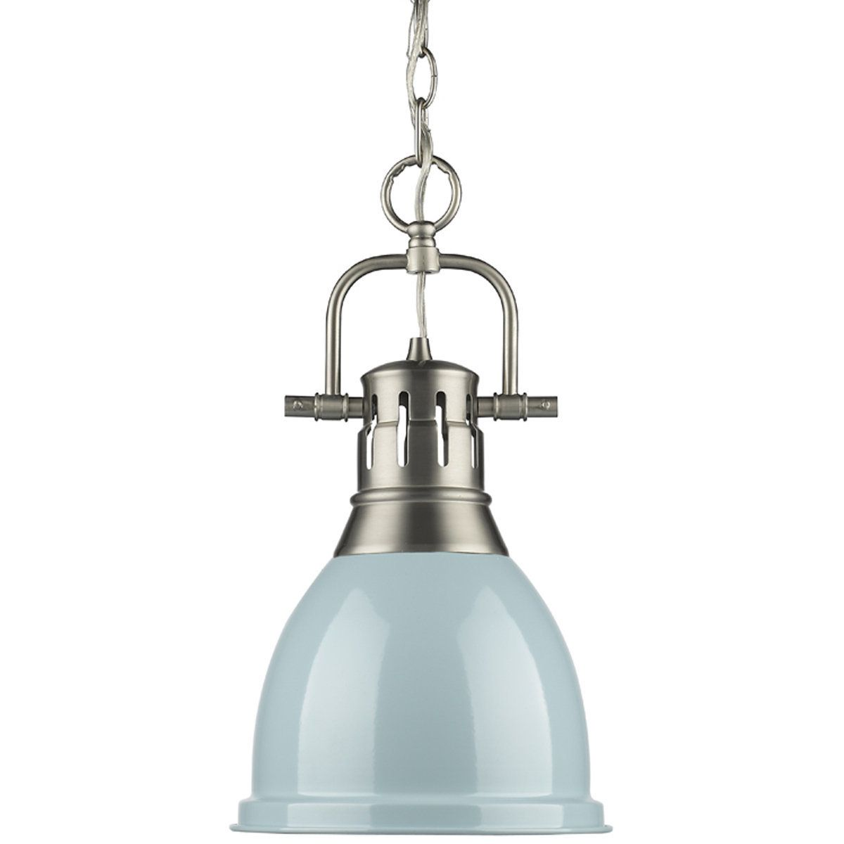 Golden Lighting 3602 M1l Ch Ch Duncan Mini Pendant With Chain In Chrome With A Chrome Shade Mini Pendant Lights