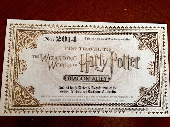 Hogswarts Express Ticket Diagon Alley Universal Studios Florida Harry Potter World Florida Harry Potter Universal Harry Potter World Tickets