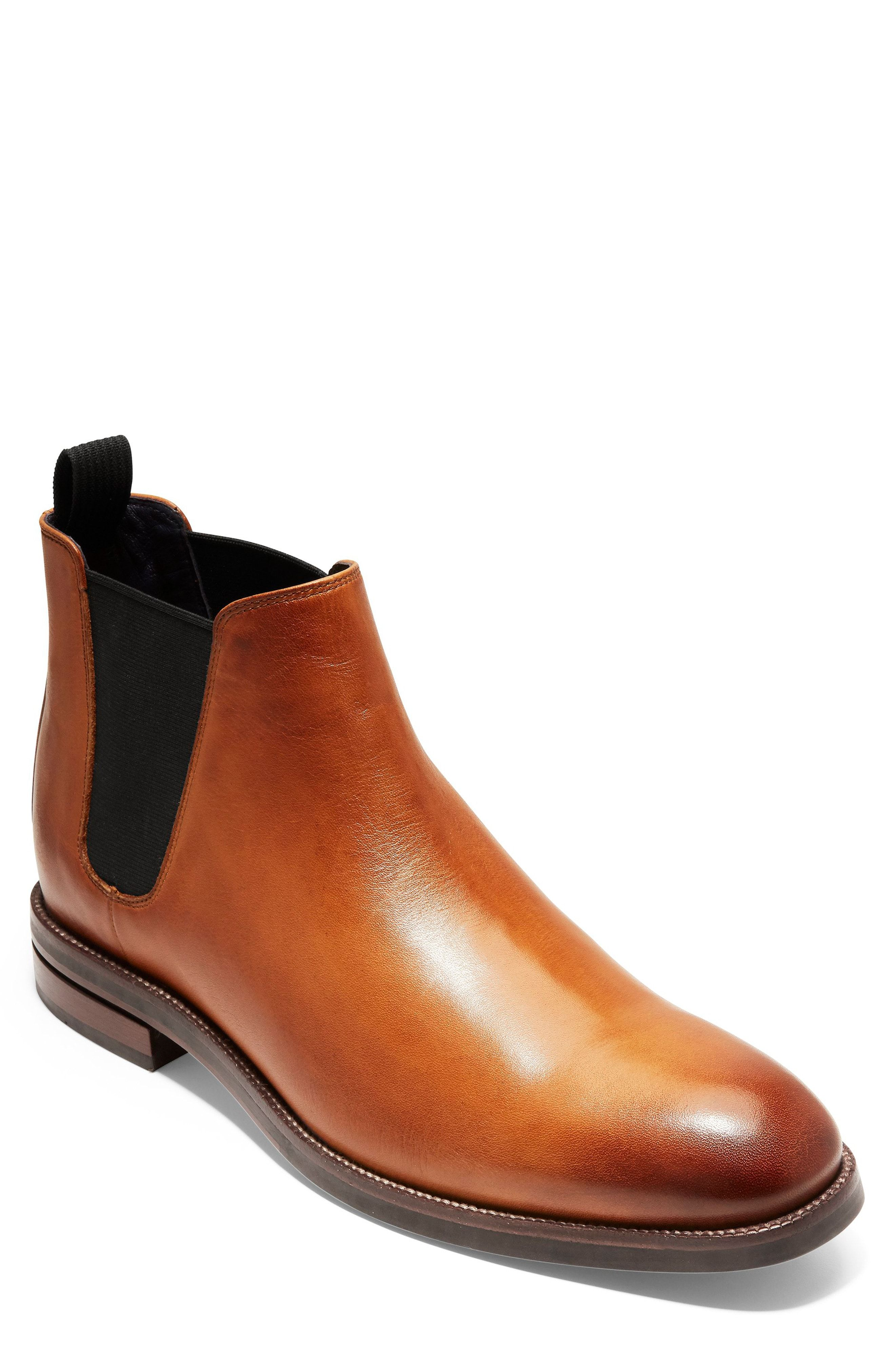 Leather Cap-toe Chelsea Boots