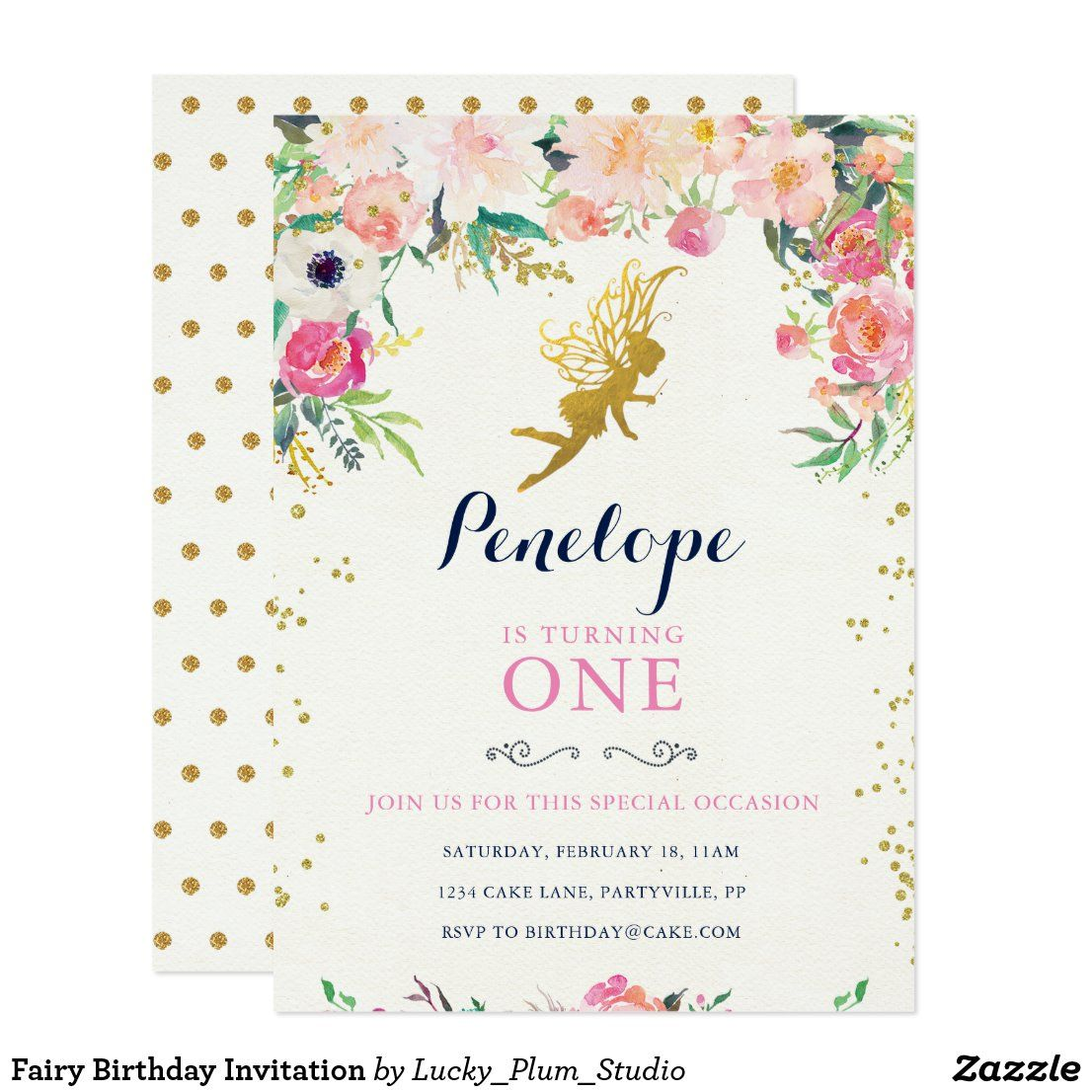 Fairy Birthday Invitation in 2020 Butterfly