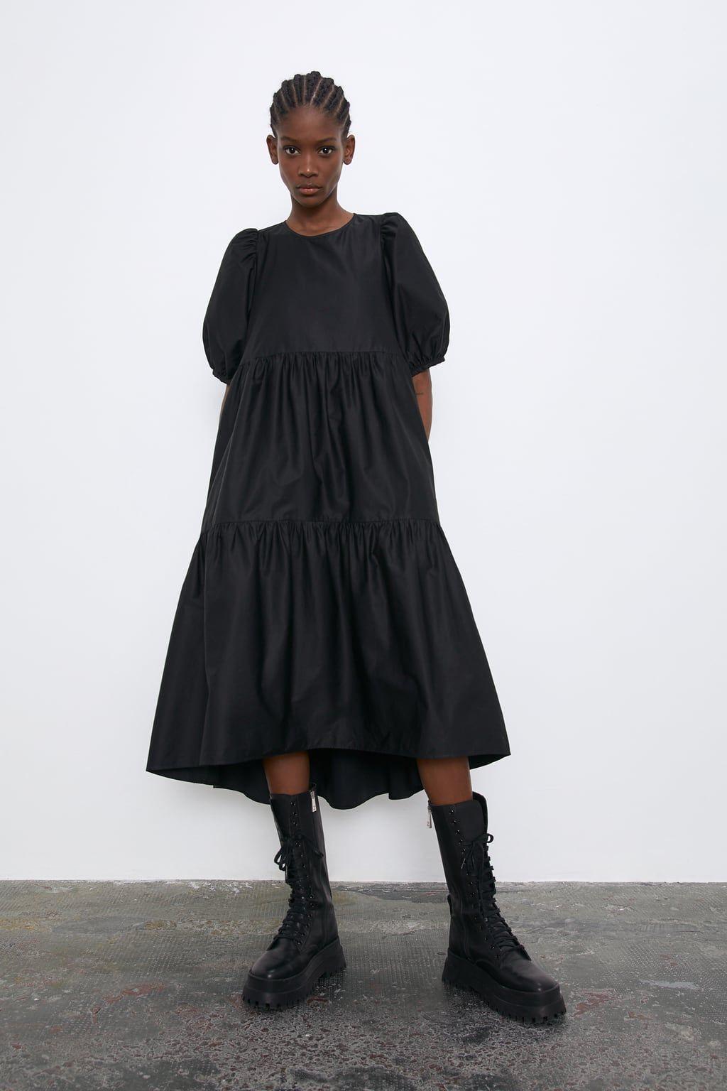 VESTIDO ASIMÉTRICO POPELÍN  Zara woman dress, Fashion, Poplin dress