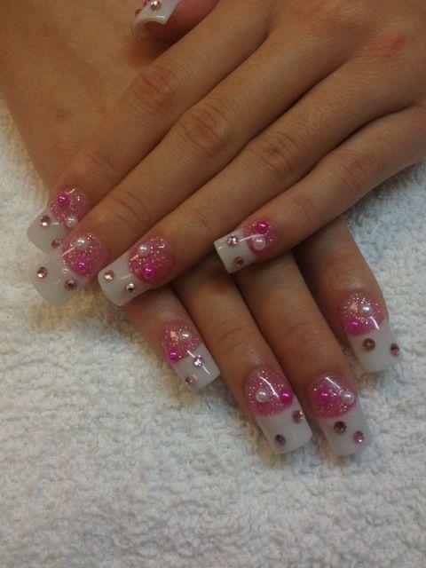 Images Of 3d Nail Art Las Vegas Nails Pink And Whites Acrylics From 3d Nail Art Las Vegas In Pink Nail Designs 3d Nails Nails