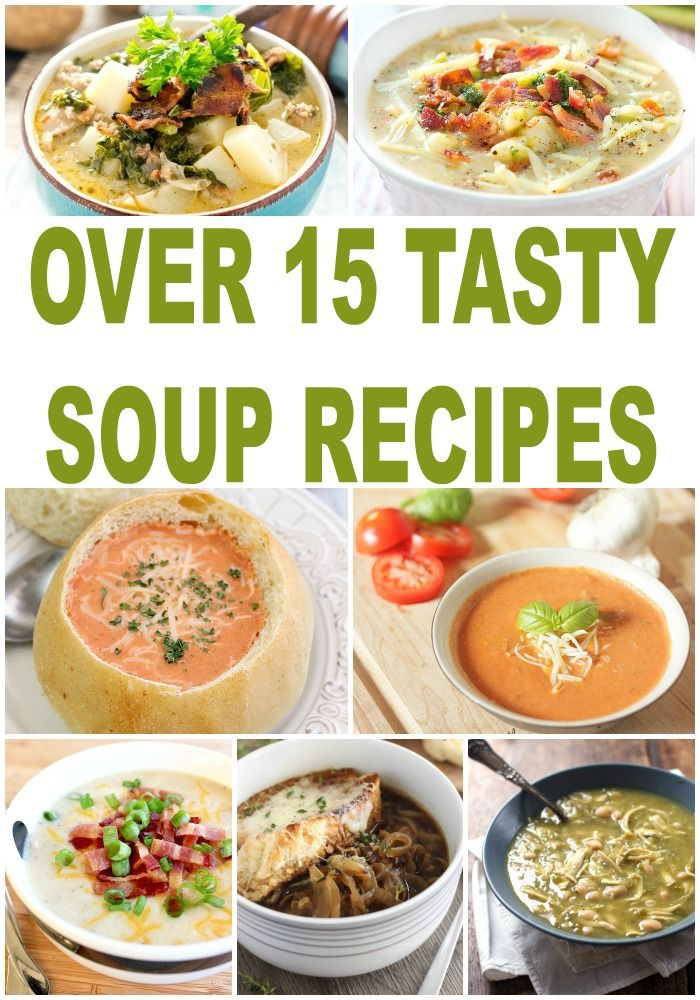 Looking for an easy soup recipe? Here are over 15 soup recipes perfect for a quick dinner or lunchtime meal. You'll even find easy crockpot recipes!
