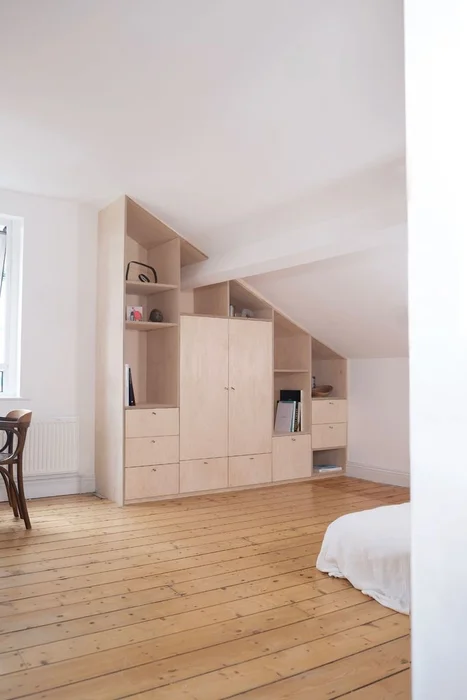 Photo of Built in Birch Plywood Cabinet/ Wardrobe
