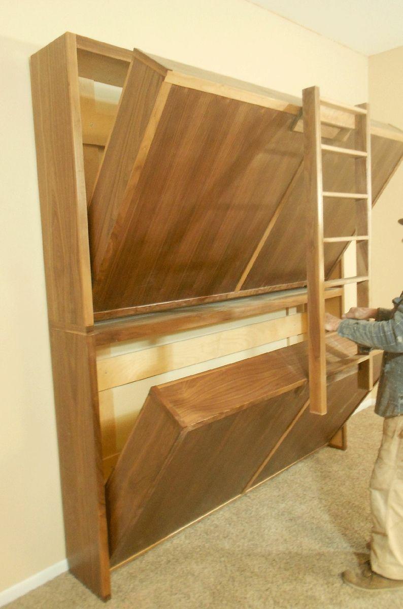 Plywood loft bed plans  Custom Made Murphy Fold Up Bunk Beds  letti castello  Pinterest