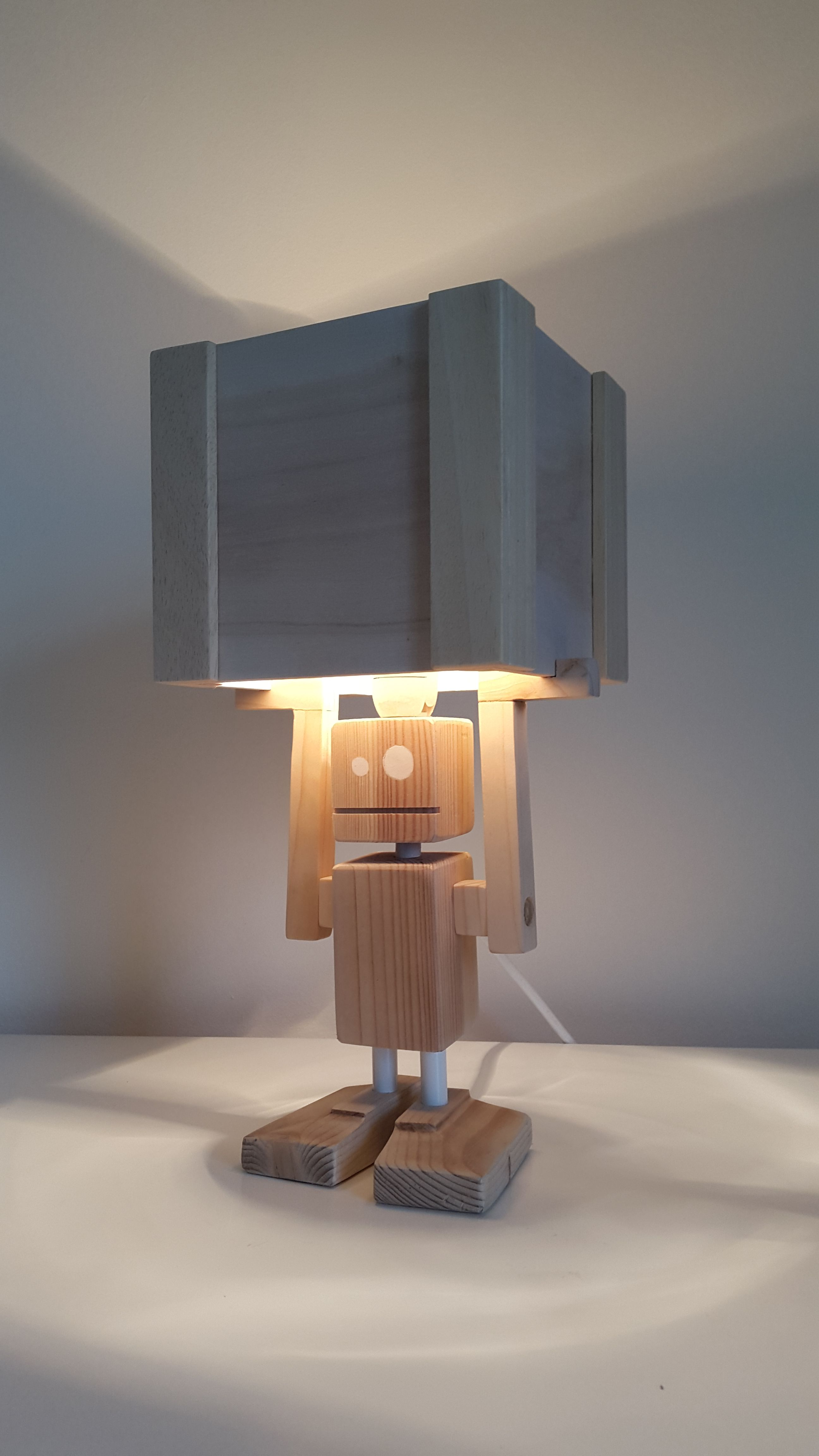 Indirekte Lampe new! - isiah table lamp made entirely from reclaimed materials