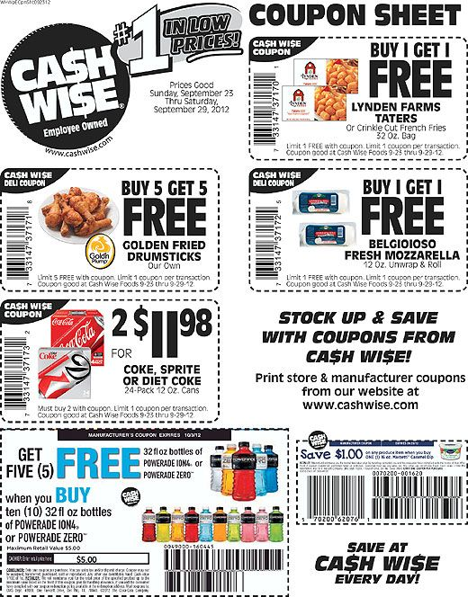 cash wise coupon matchups