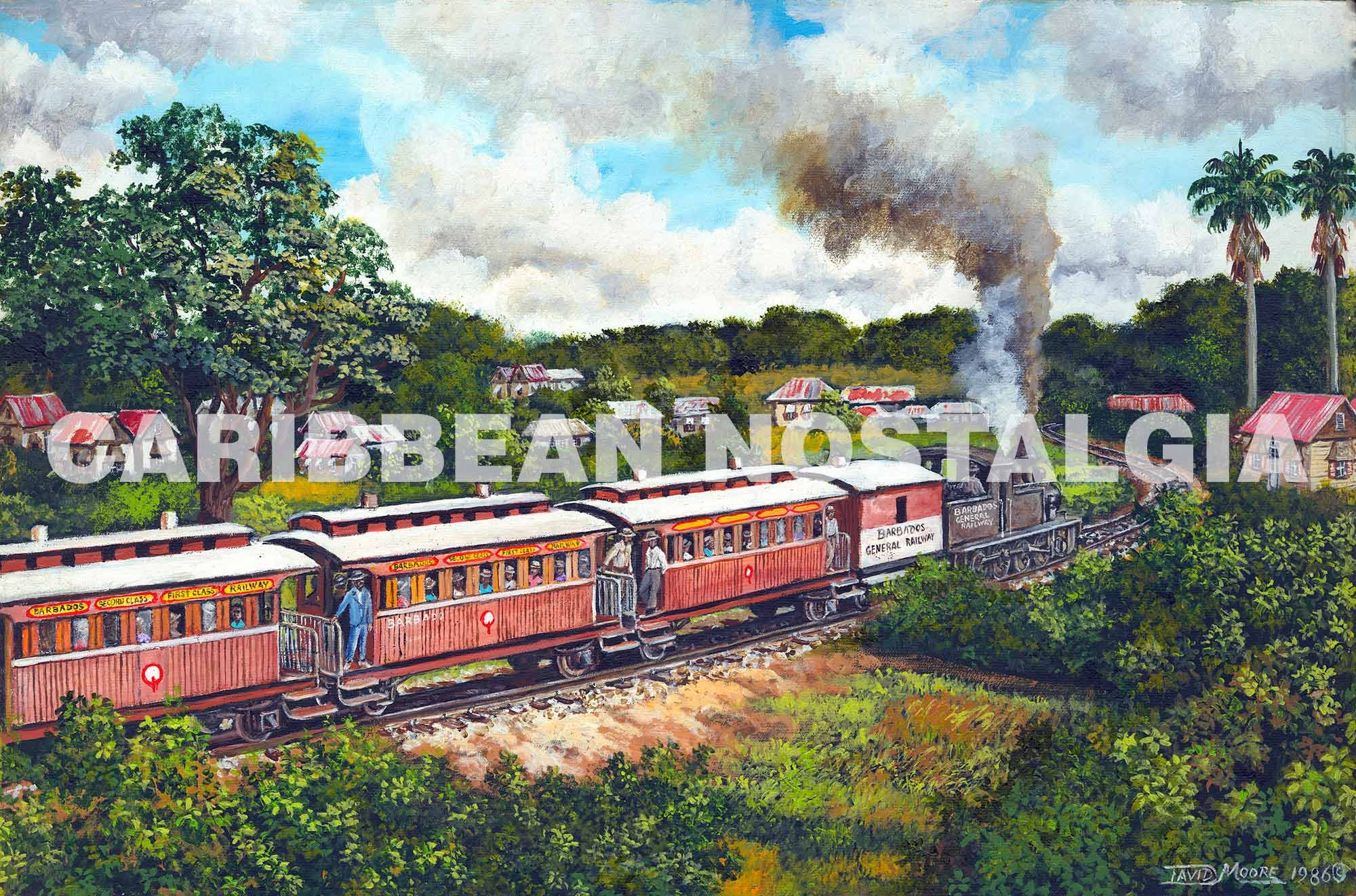 Barbados Railway David Moore Caribbean Art Love