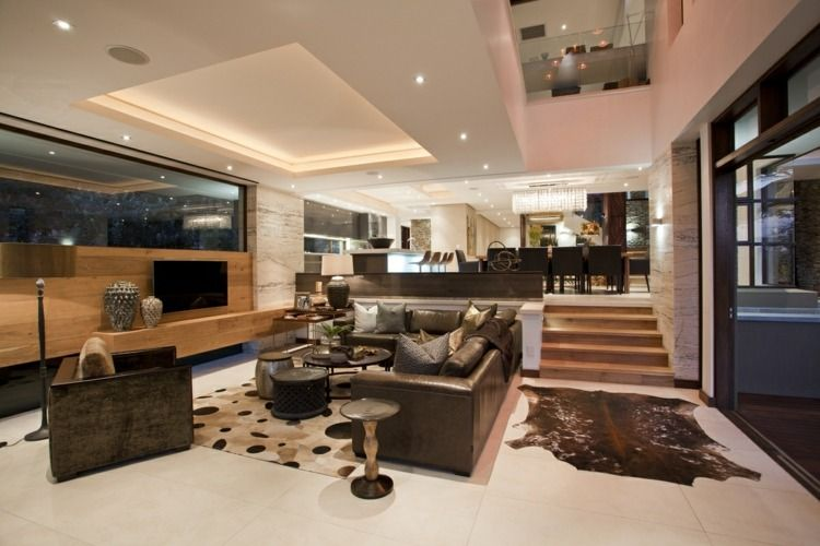 Indirekte Wohnzimmer Beleuchtung für ein gemütliches Ambiente 客厅