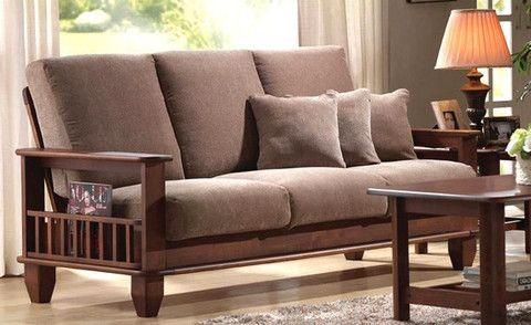 wooden sofa set Google Search Pinteres
