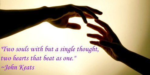 Cute Love Quote: Two Souls With But A Single Thought Two Hearts That Beat As